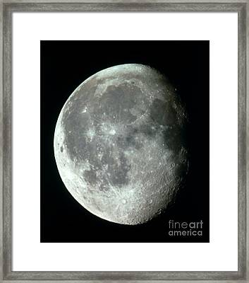 Waning Gibbous Moon Framed Print by Science Source