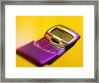 Wap Mobile Telephone Framed Print by Tek Image