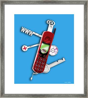 Wap Mobile Telephone Framed Print by Victor Habbick Visions