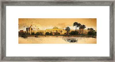 War In Iraq Sadaam's Palace Framed Print by Jeff Steed