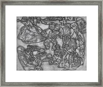 War On Terror Framed Print by Bobby Fontaine