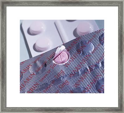 Warfarin Tablets Framed Print by Tek Image