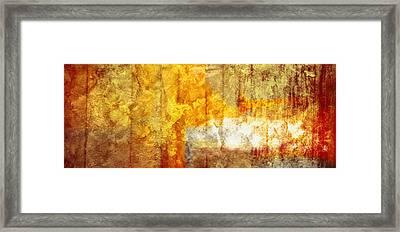 Warm Abstract Framed Print by Brett Pfister
