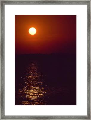 Warm Sunset Framed Print by Al Hurley