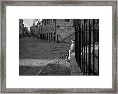 Warming Shadows Framed Print by Michael Avory