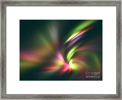 Warp Speed Framed Print by Kim Sy Ok