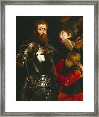 Warrior  Framed Print by Peter Paul Rubens