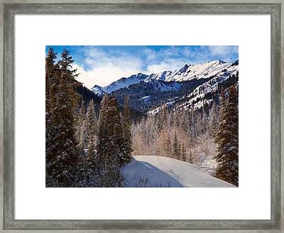 Wasatch Mountains In Winter Framed Print by Utah Images