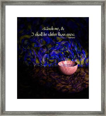 Wash Me Framed Print by Christopher Gaston