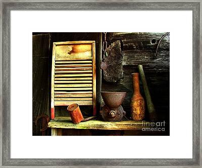 Washboard Still Life Framed Print by Julie Dant