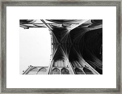 Washington Cathedral Unfinished Nave Framed Print by Jan Faul
