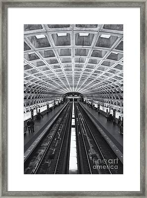Washington Dc Metro Station II Framed Print by Clarence Holmes