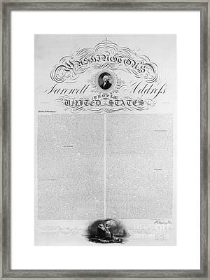 Washington: Farewell, 1796 Framed Print by Granger