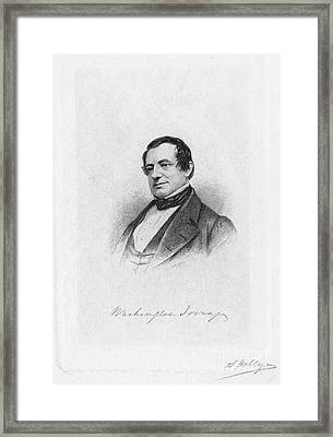 Washington Irving Framed Print by Granger