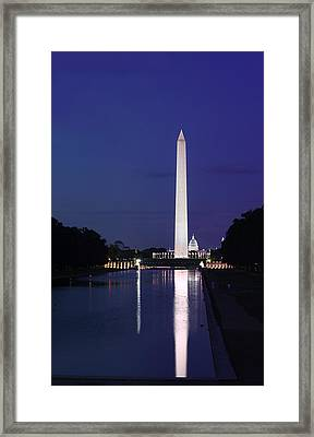 Washington Monument At Sunset Framed Print by Metro DC Photography