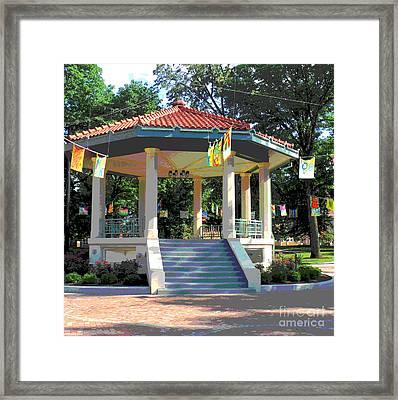 Washington Park Bandstand Framed Print by Jennifer Kelly
