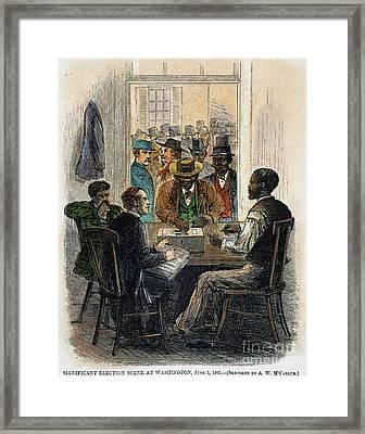 Washington: Voting, 1867 Framed Print by Granger