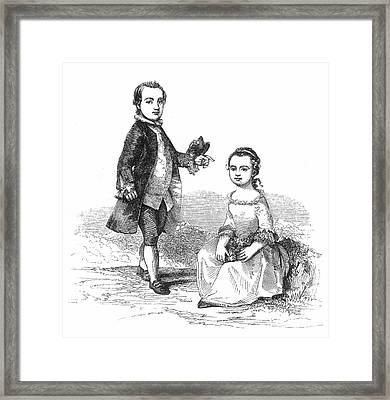 Washingtons Stepchildren Framed Print by Granger