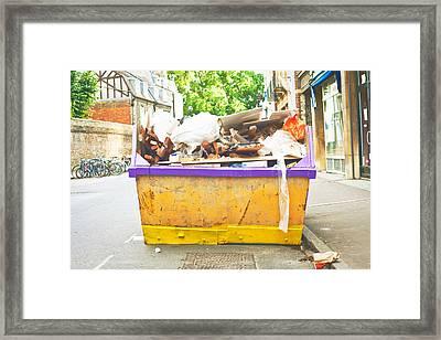 Waste Skip Framed Print by Tom Gowanlock