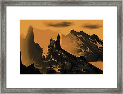 Wastelands Framed Print by Maria Urso