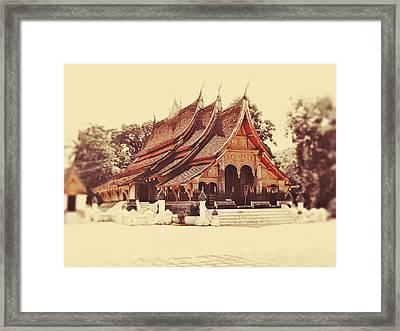 Wat Xieng Thong Framed Print by Danny Van den Groenendael