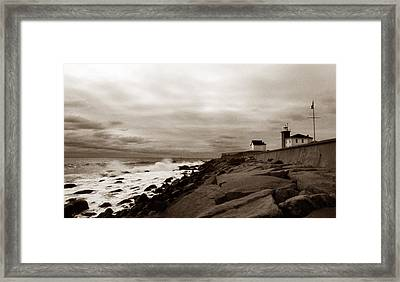 Watch Hill Lighthouse Framed Print by Skip Willits