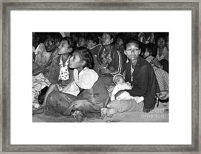 Watching Police Woman In Bagan Framed Print by Juergen Peters
