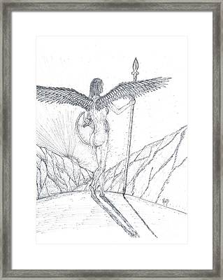 Watching... Waiting... Sketch Framed Print by Robert Meszaros