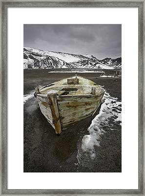 Water Boat Ruins And Artifacts Framed Print by Ron Watts