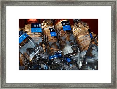 Water Bottles Framed Print by Rob Hans