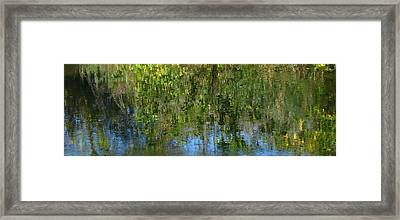 Water Emeralds And Sapphires Framed Print by Gretchen Wrede