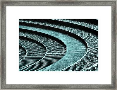 Water Feature - Aqua  Framed Print by Kaye Menner
