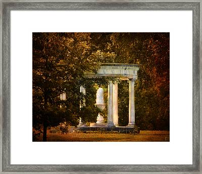 Water Fountain Framed Print by Jai Johnson