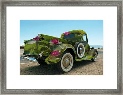 Water Lily Truck Framed Print by Carolyn Dalessandro