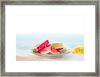 Water Melon Framed Print by Tom Gowanlock