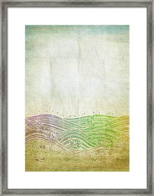 Water Pattern On Old Paper Framed Print by Setsiri Silapasuwanchai