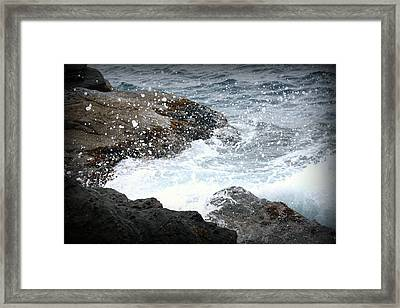 Water Splash Framed Print by Kevin Flynn