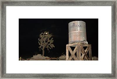 The B.h.water Tank Framed Print by Gilbert Artiaga