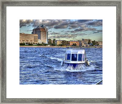 Water Taxi. St Petersburg. Russia Framed Print by Juli Scalzi