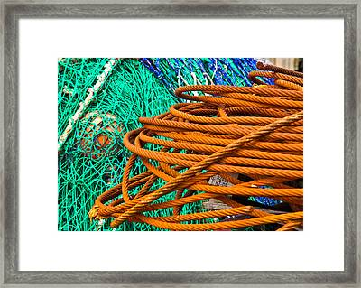 Water Wire Net Framed Print by Douglas Barnett