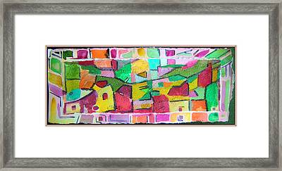 Watercolor Jazz Framed Print by Mindy Newman