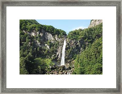Waterfall At Foroglio, Switzerland Framed Print by Hiroshi Higuchi
