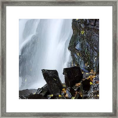 Waterfall In Auvergne Framed Print by Bernard Jaubert