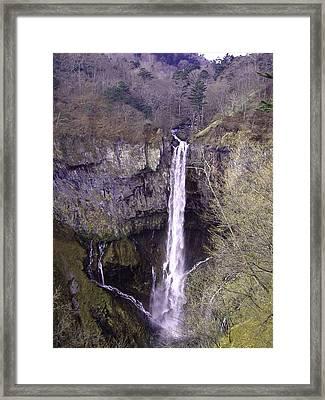 Waterfall Japan Framed Print by Naxart Studio