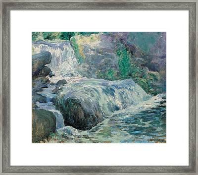 Waterfall Framed Print by John Henry Twachman