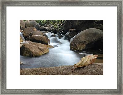 Waterfall Framed Print by Nawarat Namphon