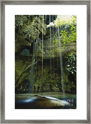 Waterfalls  Framed Print by Jacques Jangoux and Photo Researchers