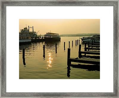 Waterfront Docks Framed Print by Steven Ainsworth