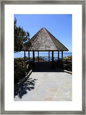 Waterfront Gazebo Framed Print by Paul Velgos