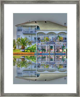 Waterfront Propery Framed Print by Barry Jones